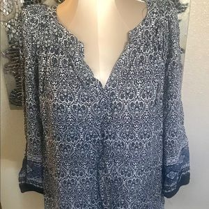 New Boutique black and white top 2XL.